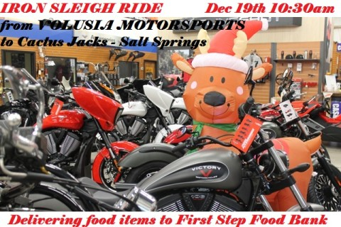 Iron Sleigh Ride to Cactus Jacks Food Drive #ironsleighride